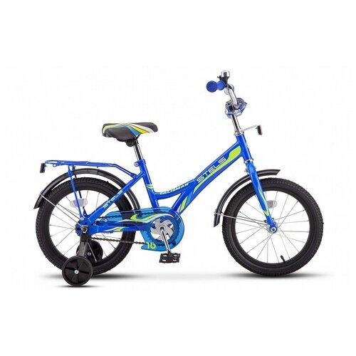 Детский велосипед STELS Talisman 16 Z010 (2018) синий 11 (требует финальной сборки) детский велосипед stels jet 14 z010 2018 белый синий 8 5 требует финальной сборки