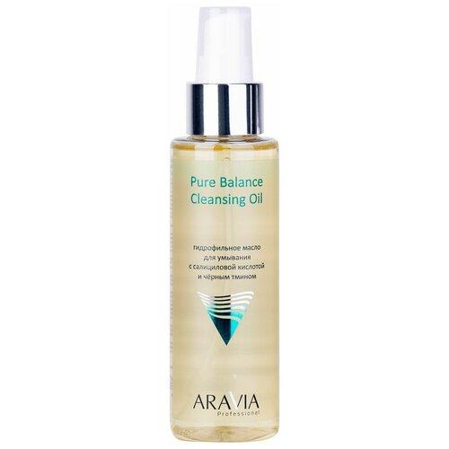 Купить ARAVIA гидрофильное масло для умывания с салициловой кислотой и чёрным тмином Pure Balance Cleansing Oil, 110 мл