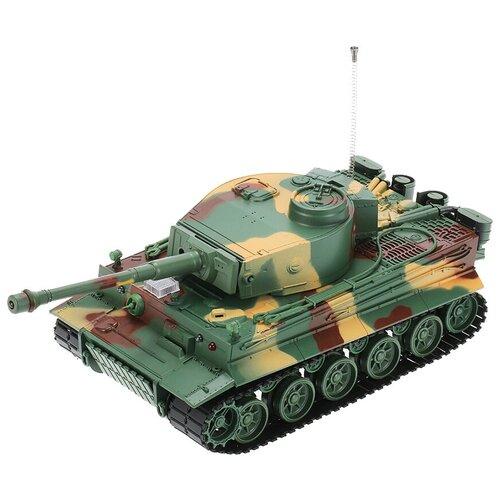 Танк Heng Long Tiger I ИК (3828-1) 1:26 31.5 см зеленый камуфляж/болотный