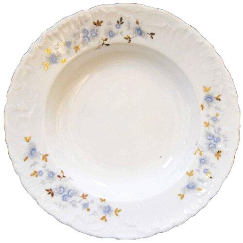 Cmielow Тарелка суповая Rococo Голубой цветок 22.5 см тарелка cmielow rococo плоская 25см фарфор 0031190 rococo