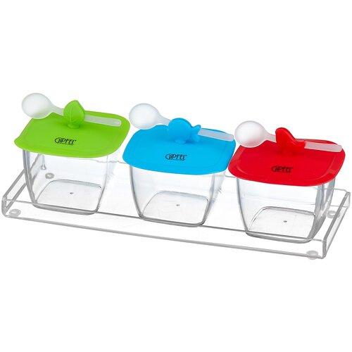 набор для приправ gipfel 9139 GIPFEL Набор для приправ 2876 голубой/красный/зеленый