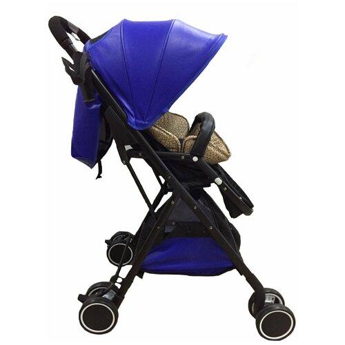 Фото - Коляска прогулочная (синий/черный/бежевый) прогулочная коляска babyhit allure бежевый серый