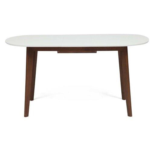 Стол кухонный TetChair Боско, раскладной, ДхШ: 120 х 80 см, длина в разложенном виде: 150 см, белый/коричневый