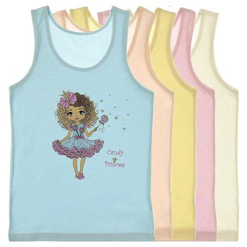 Купить Майка для девочек 4971CE, Цвет: Микс, Размер: 6/7, 5шт. в упаковке, Donella, Белье и купальники