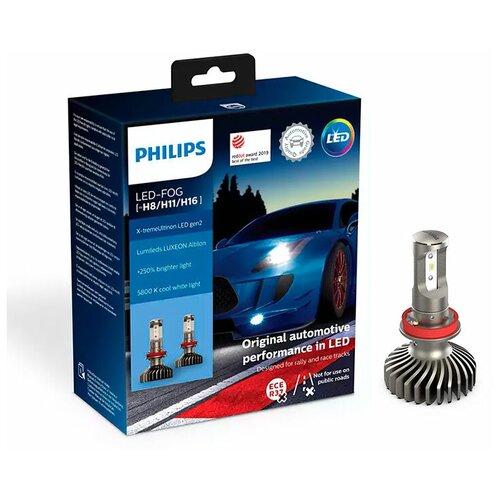 Лампа светодиодная Philips X-tremeUltinon LED FOG (H8/H11/H16) 12V, 2 шт.
