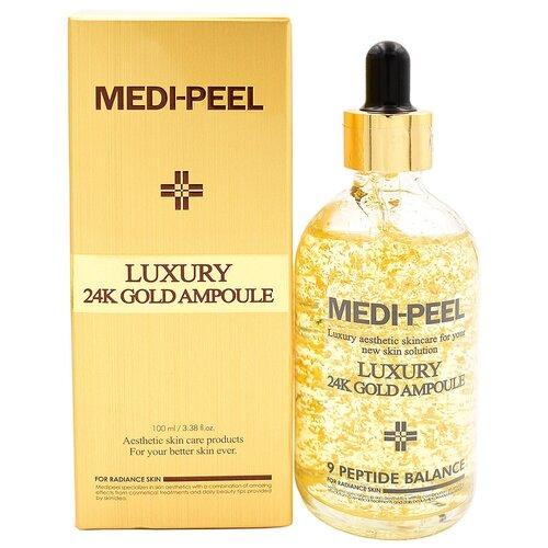 Сыворотка для лица с 24К золотом MEDI-PEEL Luxury 24K Gold Ampoule 100 мл. medi peel 5gf bor tox peptide ampoule сыворотка для лица с эффектом ботокса 30 мл