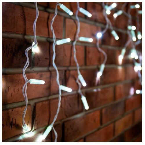 Фото - Гирлянда NEON-NIGHT Бахрома (Айсикл), 88 LED, 240х60 см, 88 ламп, белый/белый провод светодиодная уличная гирлянда бахрома neon night синего свечения 2 4х0 6 м 76 led
