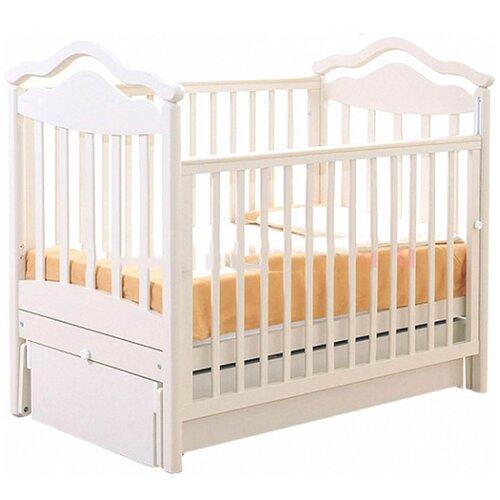 Кровать детская GANDYLYAN К-2005-1м Анжелика маятник универсальный (белый) gandylyan кроватка gandylyan дашенька маятник универсальный орех