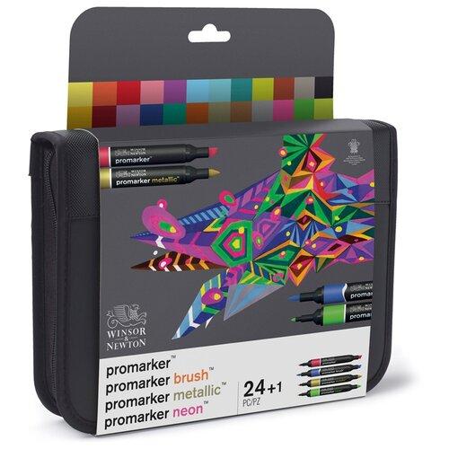 Купить Winsor & Newton набор маркеров Promarker Brush, (290037) 24 шт., Фломастеры и маркеры