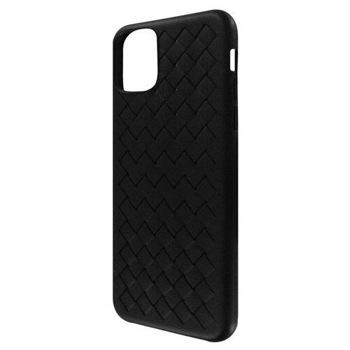 Krutoff / Накладка силиконовая плетеная Krutoff для iPhone 11 Pro Max (black)