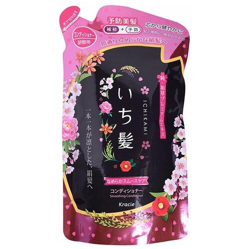 Купить Kracie бальзам-ополаскиватель Ichikami разглаживающий для поврежденных волос с ароматом горной сакуры, 340 г