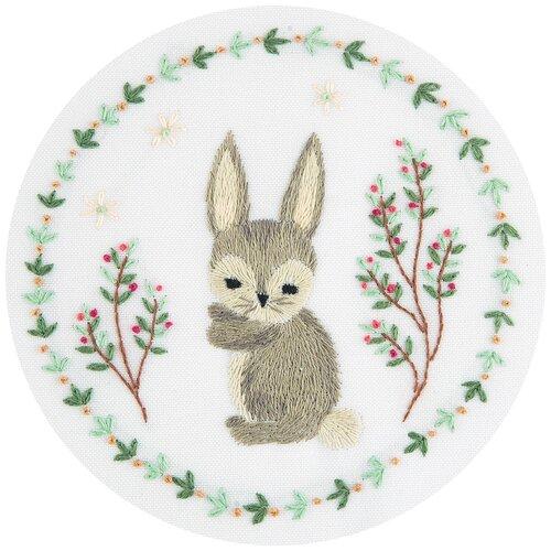 PANNA Набор для вышивания Живая картина Серый зайчик (JK-2128 / ЖК-2128)