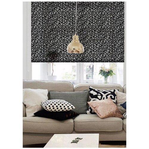 Фото - Рулонная штора Эскар Heyli (черный), 160х160 см римская штора эскар линза синий 160х160 см