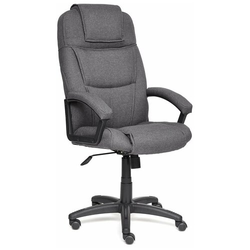 Компьютерное кресло TetChair Бергамо (крестовина пластик, обивка ткань) для руководителя, обивка: текстиль, цвет: серый