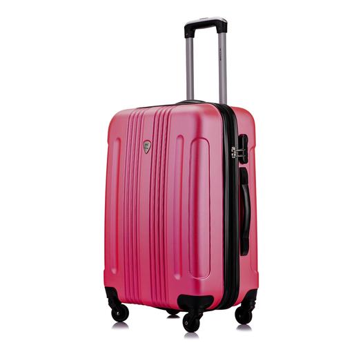Чемодан L'case Bangkok Peach pink (Розовый) M 28*43*62 с расширением