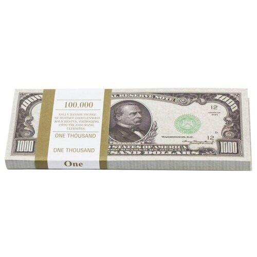 Филькина Грамота Билеты банка приколов 1000 долларов, зеленый