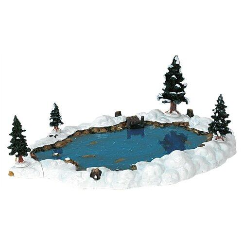 фигурка lemax композиция согреться у уличного камина 10 х 15 х 13 см бежевый серый Фигурка LEMAX композиция Пруд 9.6 х 29 х 20.6 см белый/синий