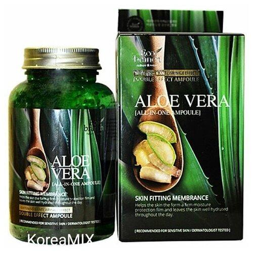 Купить Сыворотка для лица с экстрактом Алоэ ECO BRANCH Aloe Vera Ampoule 250 мл.