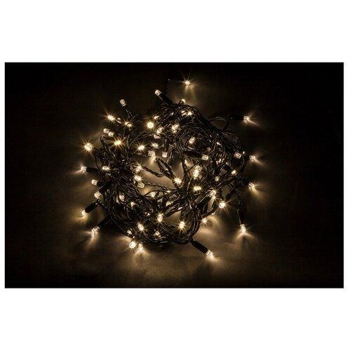 Гирлянда Feron Нить CL44 2000 см, 200 ламп, теплый белый/черный провод гирлянда feron нить cl34 1000 см 100 ламп теплый белый черный провод