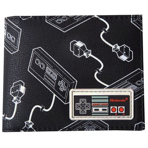 Кошелек Difuzed: Nintendo: NES Controller AOP Bifold Wallet With Rubber Patch MW663550NTN кошелек obey drexel bifold wallet black