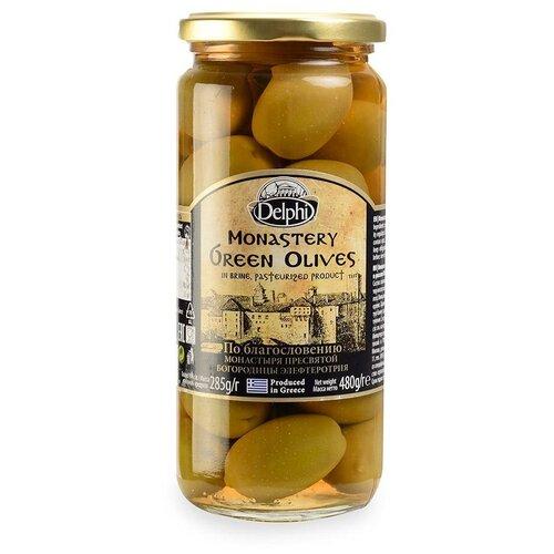 DELPHI Оливки с косточкой в рассоле Монастырские, 480 г delphi маслины с косточкой в рассоле монастырские 480 г