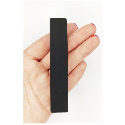 Купить Заколка- автомат для волос, большая, черная, Fashion jewelry