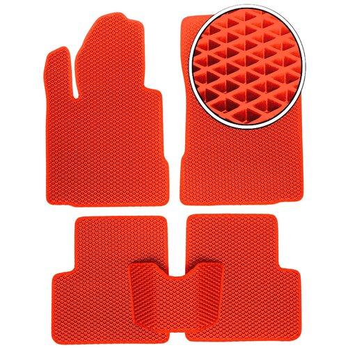 Автомобильные коврики EVA Skoda Superb 3 2015- настоящее время - Красный