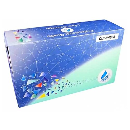 Фото - Картридж Aquamarine CLT-Y406S (совместимый с Samsung CLT-Y406S / CLT-406S), цвет - желтый, на 1000 стр. печати картридж aquamarine clt c609s совместимый с samsung clt c609s clt 609s цвет голубой на 7000 стр печати