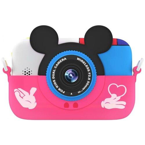 Фото - Фотоаппарат GSMIN Fun Camera Memory с играми розовый фотоаппарат gsmin fun camera rabbit со встроенной памятью и играми голубой