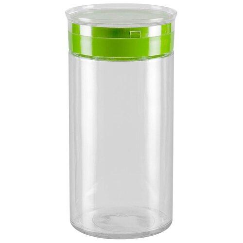 Фото - Nadoba банка для сыпучих продуктов Tekla 1.7 л прозрачный/зеленый банка для сыпучих продуктов nadoba 741111