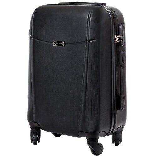 чемодан 55 см samsonite чемодан 55 см popsoda 40x55x20 см Чемодан Bonle, премиум ABS-пластик, Черный, размер S, 55 см, 37 л