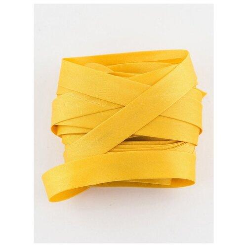 Купить Косая бейка, 14-15 мм, 10 м., GK-15P, Гамма, №019 т.желтый, Gamma, Технические ленты и тесьма