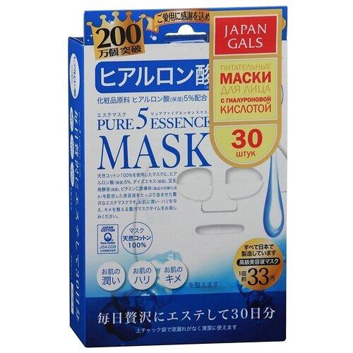 Купить Japan Gals маска Pure 5 Essence с гиалуроновой кислотой, 30 шт.
