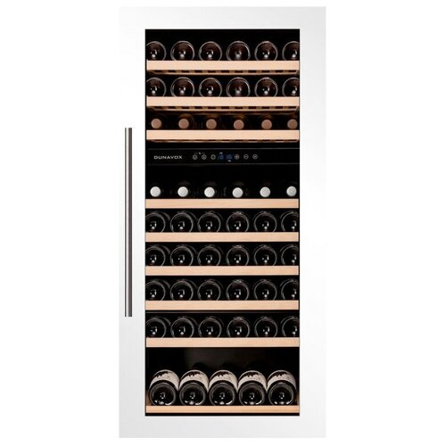 Фото - Встраиваемый винный шкаф Dunavox DAB-89.215DW винный шкаф 81 л на 32 бутылки монотемпературный серый dau 32 81ss dunavox