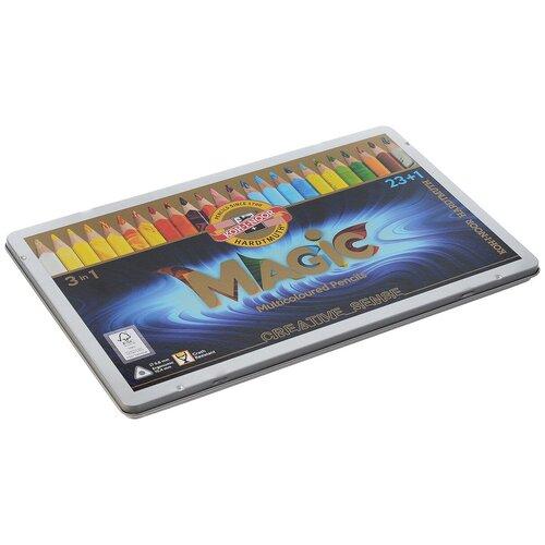KOH-I-NOOR Карандаши с многоцветным грифелем Magic, 24 цвета (3408024001) koh i noor карандаш с многоцветным грифелем progresso magic 30 штук 8775030001tdru