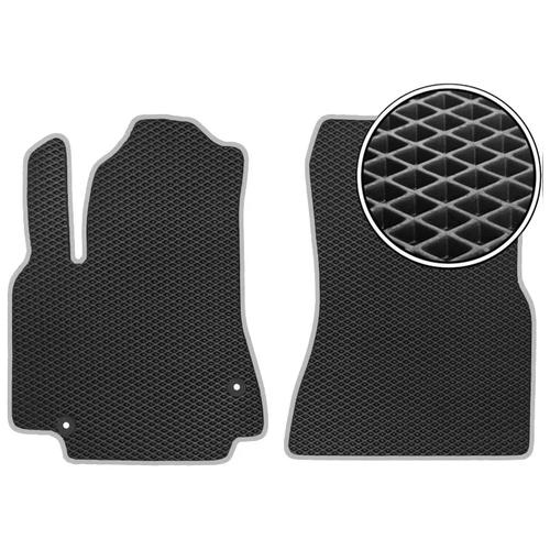 Комплект передних автомобильных ковриков ЕВА Chery Tiggo 3 2014 - наст.время (светло-серый кант) ViceCar