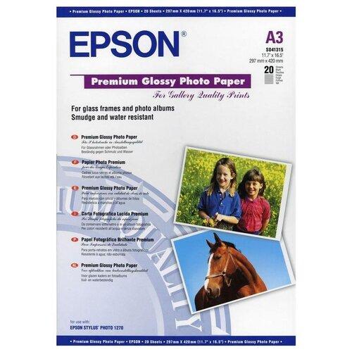 Фото - Бумага Epson A3 Premium Glossy Photo Paper 255 г/м² 20 лист., белый бумага epson a4 premium glossy photo paper c13s041624 255г м2 50 лист белый