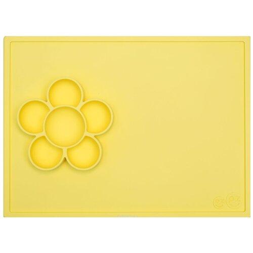 Купить Тарелка EZPZ Flower play mat, lemon, Посуда