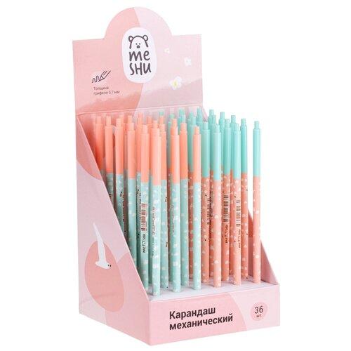 Купить MESHU Механический карандаш HB, 0, 7 мм, 36 шт, Механические карандаши и грифели