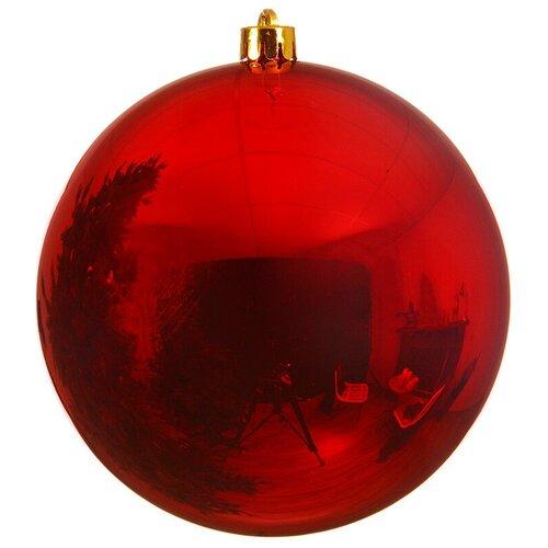Елочный шар Kaemingk 9022572, красный