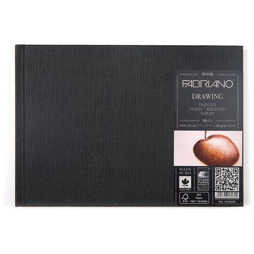 Фото - Скетчбук для зарисовок Fabriano Drawingbook 21 х 14.8 см (A5), 160 г/м², 60 л. скетчбук блокнот для зарисовок полином на металлическом гребне artbook quadro big aquarelle 19 х 19 см 200 г м² 20 л