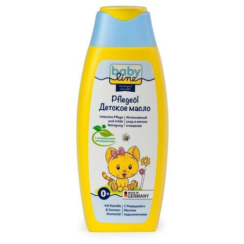 Купить Детское масло для ухода и массажа baby line с ромашкой и подсолнечником; объем 250 мл, BabyLine, Уход за кожей