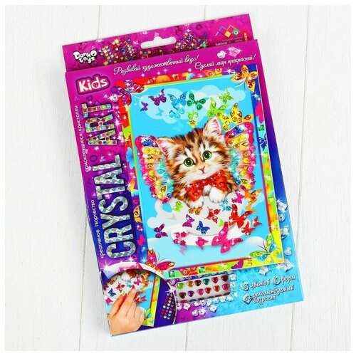 Danko Toys Набор креативного творчества «Самоклеящиеся кристаллы» серии «Crystal Art»