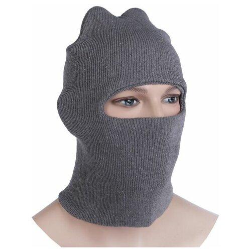 Шлем-маска 1 отверстие, цвет серый 2226381