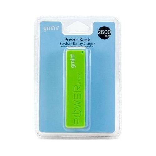 Gmini Внешний аккумулятор Gmini GM-PB026-G, 2600mAh, зелёный