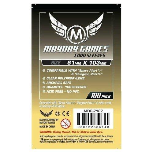 Протекторы MayDay Games Mayday (размер 61х103 мм) 100 шт. стандарт: прозрачные