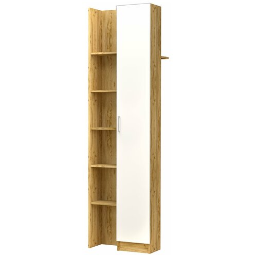 EVITA/Шкаф Лего для одежды (гардероб) дуб бунратти/белый/Шкаф/Секция с крючками/Прихожая