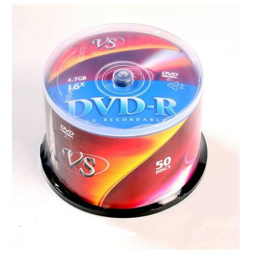Фото - Носители информации DVD-R, 16x, VS, Cake/50, VSDVDRCB5001 носители информации dvd r 16x verbatim azo matt silver cake 25 43500