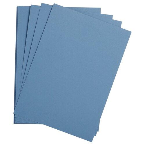 Купить Цветная бумага 500*650мм., Clairefontaine Etival color , 24л., 160г/м2, королевский синий, легкое зерно, хлопок, Цветная бумага и картон