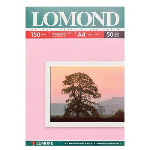 Фото - Фотобумага А4, 150 г/м2, 50 листов, односторонняя, глянцевая, LOMOND, 0102018 фотобумага lomond 100x150 180g m2 матовая односторонняя 50 листов 102063